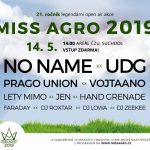 Na Miss Agro 2019 vystoupí UDG, No Name i Prago Union